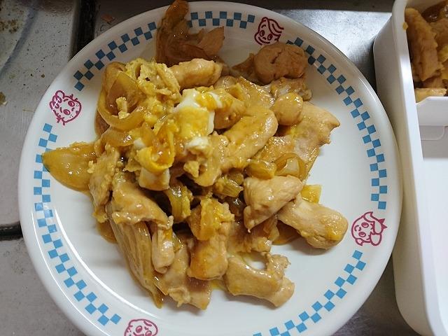 鶏肉の卵とじ