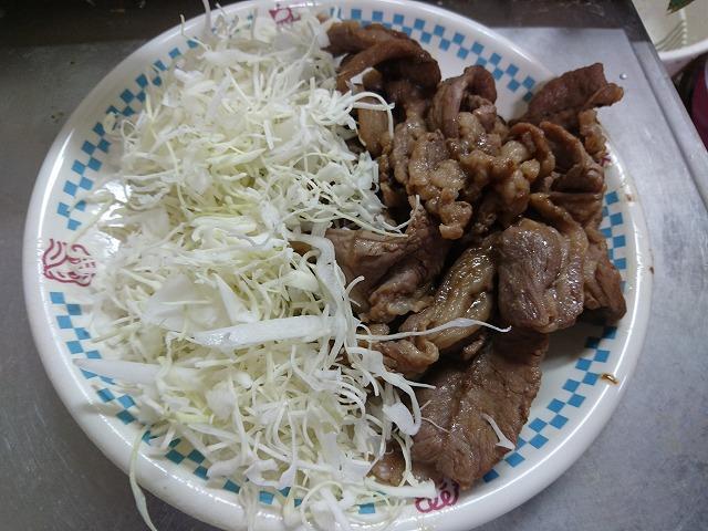 ラム肉の生姜焼き完成