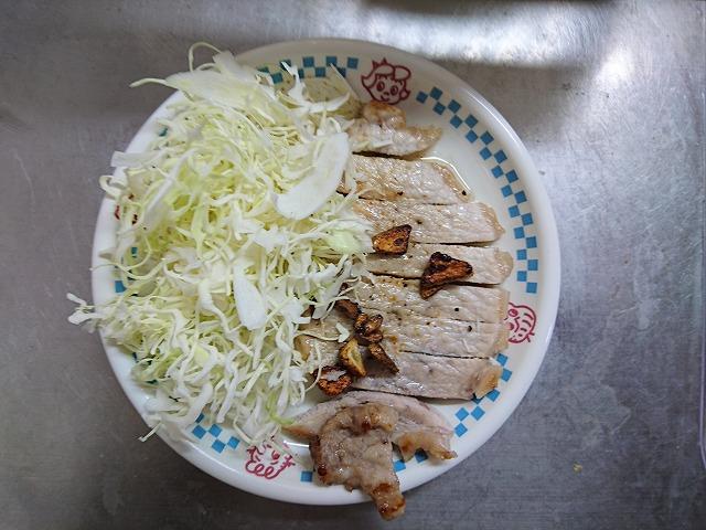 豚肉のクレイジーソルトステーキ完成