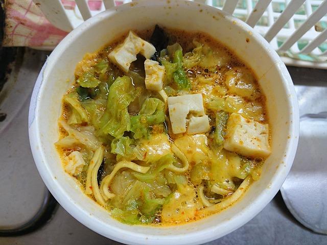蒙古タンメン中本 チーズの一撃お湯投入5分後