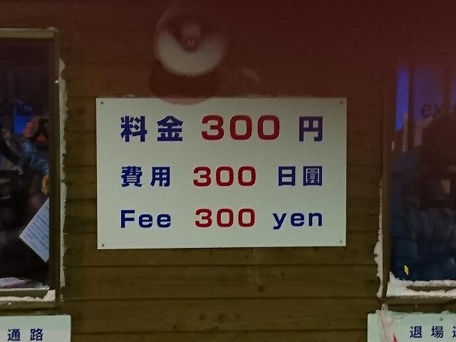 入場料300円