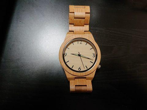 私の竹製腕時計